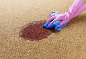Limpeza e mancha de tapete