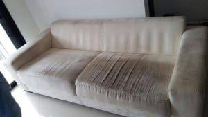 Higienização de sofá em tecido