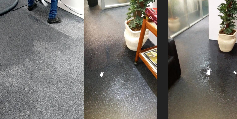 secagem de tapete alagado