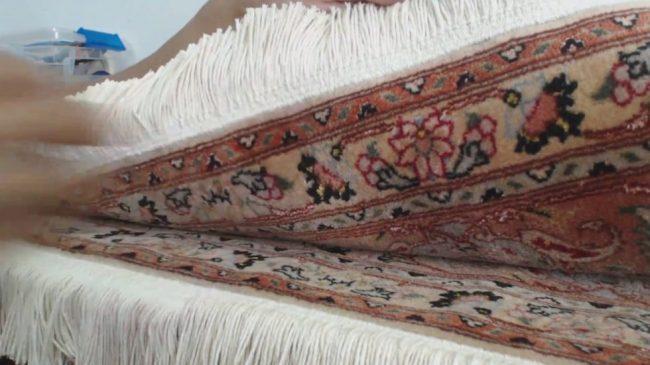 Restauração de tapetes