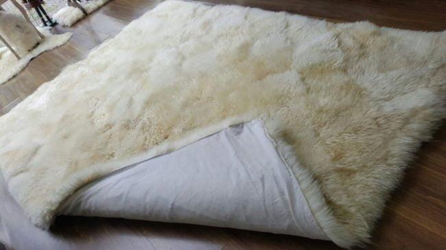 Lavagem tapete de lã