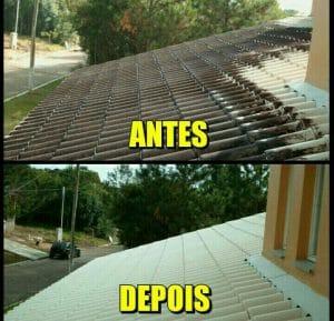 serviço limpeza de telhado